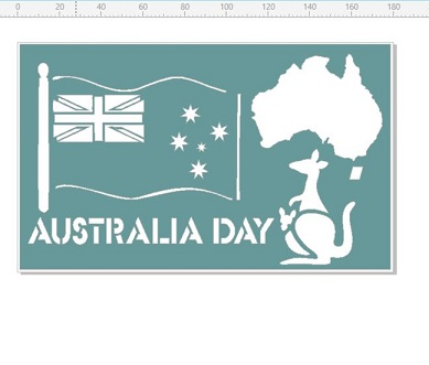 Australia day map 110 x 180mm