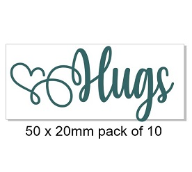 Hug hearts, pack of 10, Ideal for your card making, bulk.