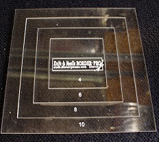 BORDER PRO 10 inch -4inch Templates cut around