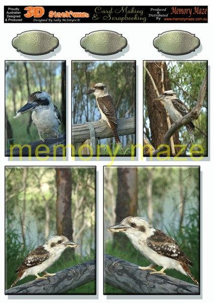 DS0711 kookaburra multi sized toppers nin buy 5 can be cut out w