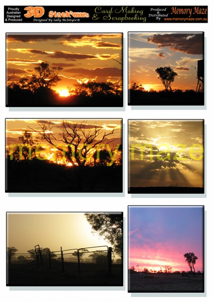 DS0714 out west queensland sunsets min buy 5 can be cut out with