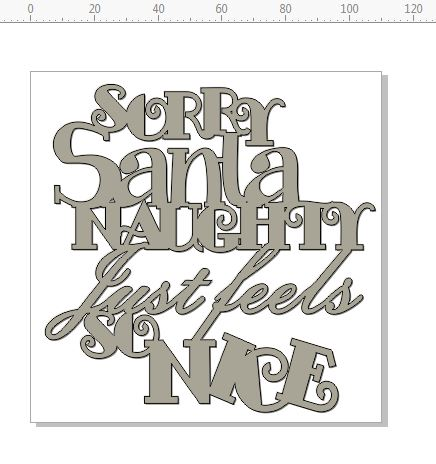 SORRY SANTA NAUGHTY feels so nice  110 x 110