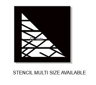 Stencil Criss cross  multiple sizes available see drop