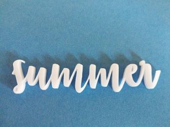 Acrylic words Summer  23mm high 76 long ,