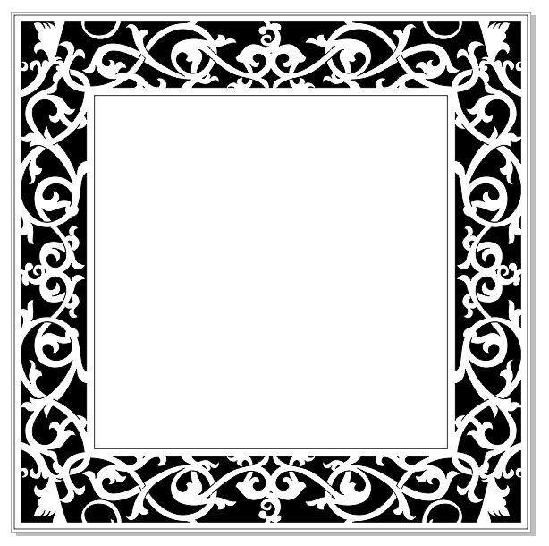 Ornate frame 150 x 150 (6x6)