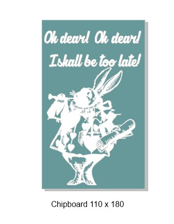 Alice  rabbit 110 x 180mm
