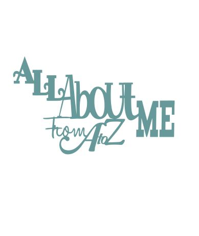 All about me from A to Z  100 x 80mm