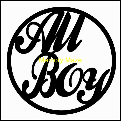 All Boy in circle 75 x 75mm packs of 3