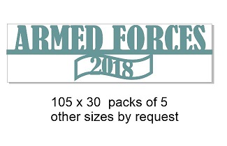 Armed forces 2018 105 x 30 pack of 5