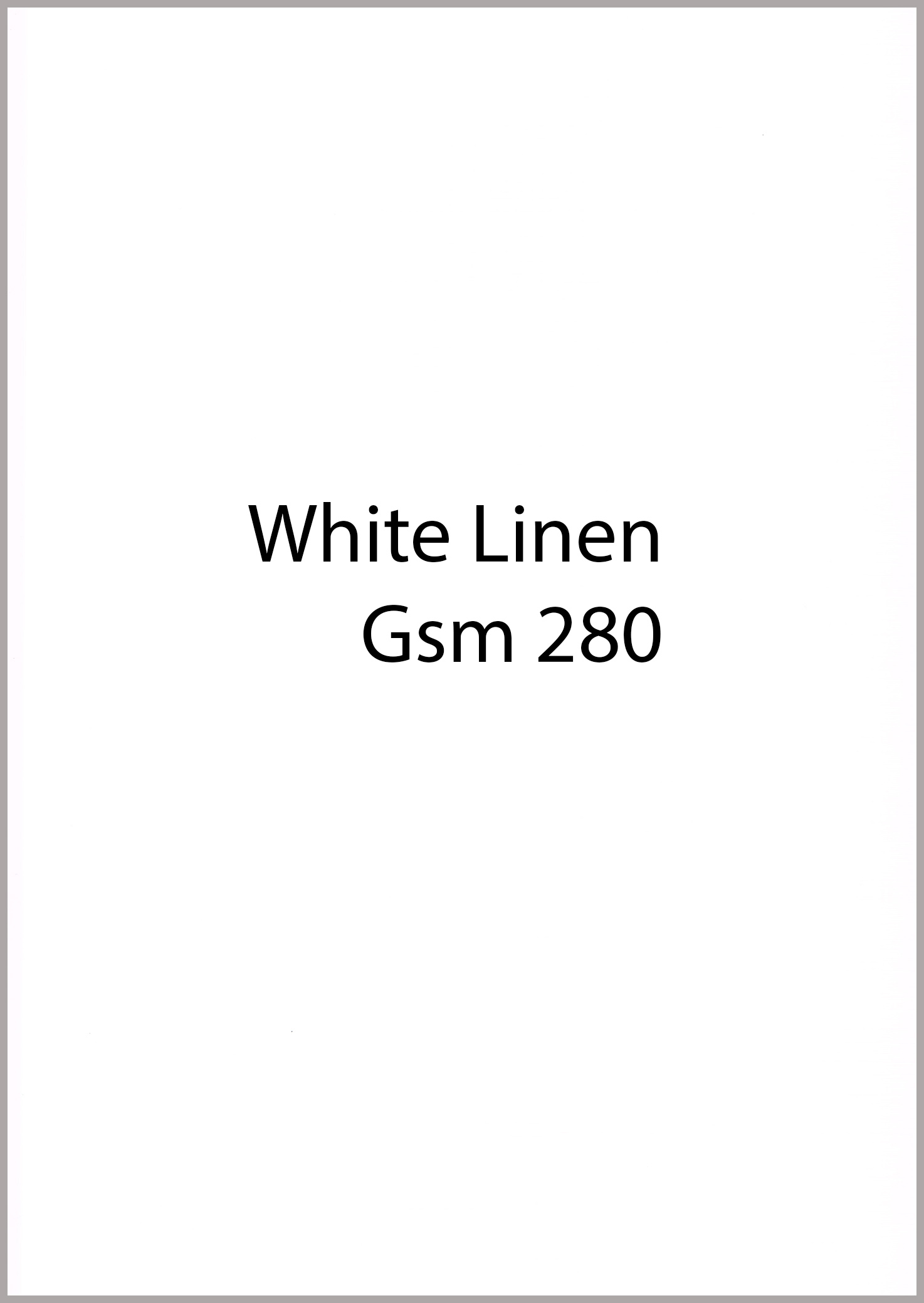 A4 280 gsm white card linen pack 10