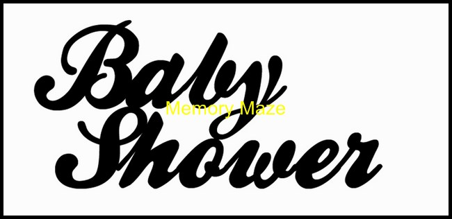 *Baby Shower 100 mm wide custom designed to suit your requiremen