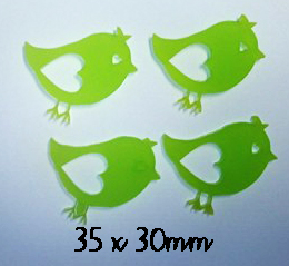 Little birdies, Birds Pack of 4 , Acrylic,wood or chipboard,