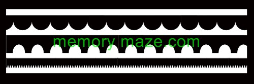 Stencil,mask or template BORDER 2  100X300