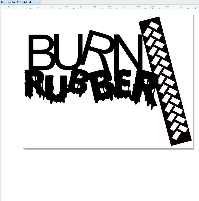 Burn rubber 2 pack 118 x 94