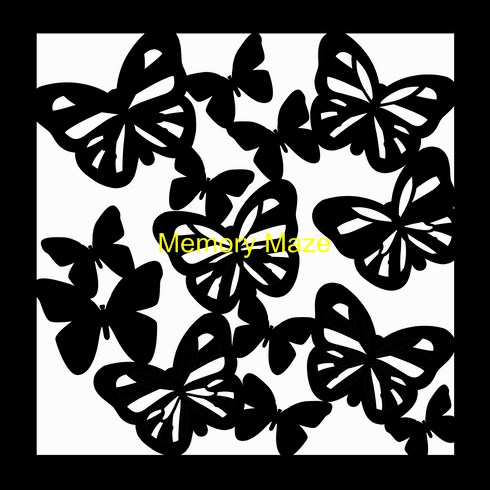 butterfly 1 template 200 x 200  (8x8)