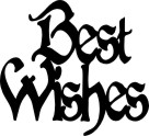 Best wishes pack of 3  44 x 48