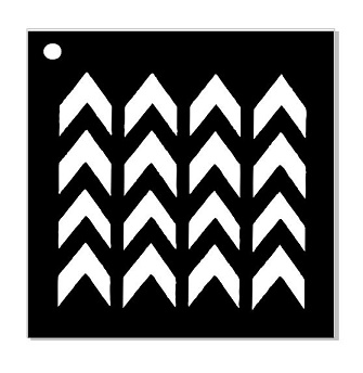 i stencil  chevron Stencil available in various size