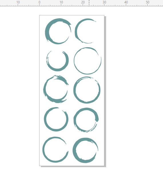 Circles  STAMP RUBBER ONLY  30 x 70.rubber only for use with sta