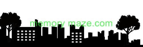 Stencil,mask or template CITY SCAPE  100X300