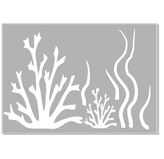 Seaweed,coral stencil   ,Australian made