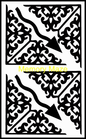 corner flourishes and arrows 100 x 180 mm  Memory maze