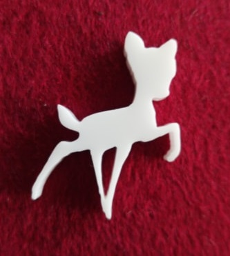 Deer Brooch or earring size acrylics  for order