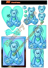 Teddy Bear blue