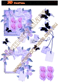 Purple rose frame