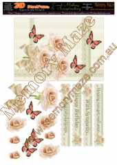 Muliple sentiments apricot rose