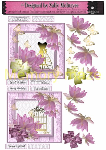 waterlillies birdcage,ladies form