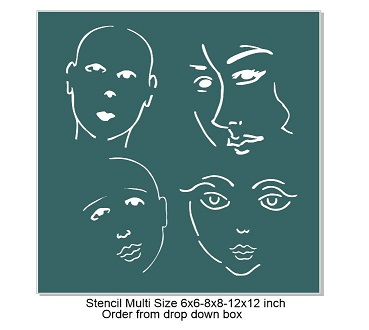 Face Stencil NO 1-Pick your size  of any size