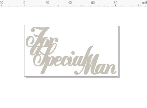for a special man 82 x 45 pack of  3