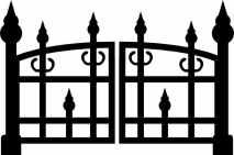 PAIR MINI GATES  SOLD IN PACK OF 10 APP 27 MM HIGH