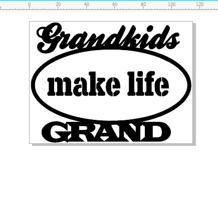 grand kids make life grand 115 x 86 mm