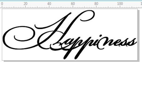 Happiness  Script 115 x 44mm
