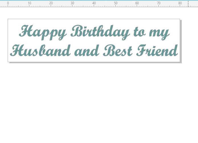 Happy Birthday to my husband and best friend STAMP RUBBER ONLY