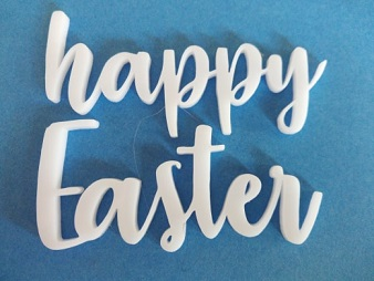 Acrylic word Happy Easter