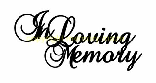 In loving memory 2 pack  80 x 60 mm ( Smallcard size)