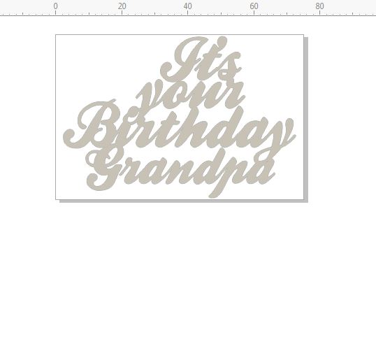 its your birthday grandpa 75 x 50  pack of 3