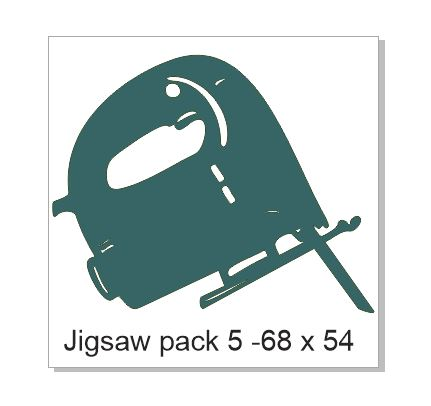 Jig Saw Pack of 5 ; 70 mm x 70 mm;2mm board