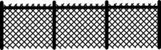 Lattice fence with sections 288 x89mm