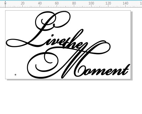 Live the moment  Script 146 x 80.mm