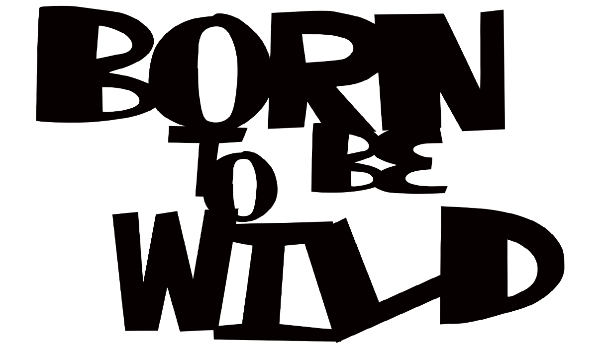 Born to be wild 105 X 60
