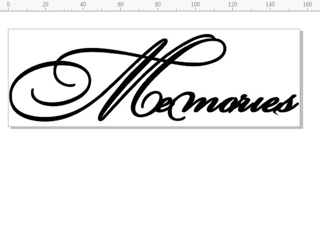 Memories Script  156x52.mm