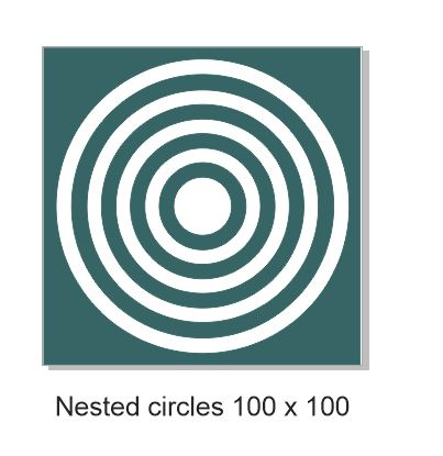 Nested circles 100 x100.mm