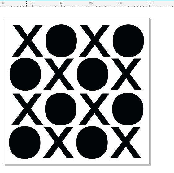 i Stencils noughts and crosses  100 x 100mm  priced