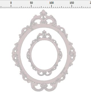 ornate oval frame 200 x 155