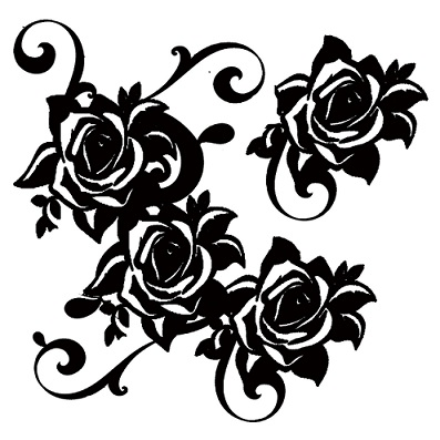 roses corner-  flourish  200 x 200mm