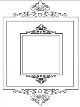 Ornate double square frame