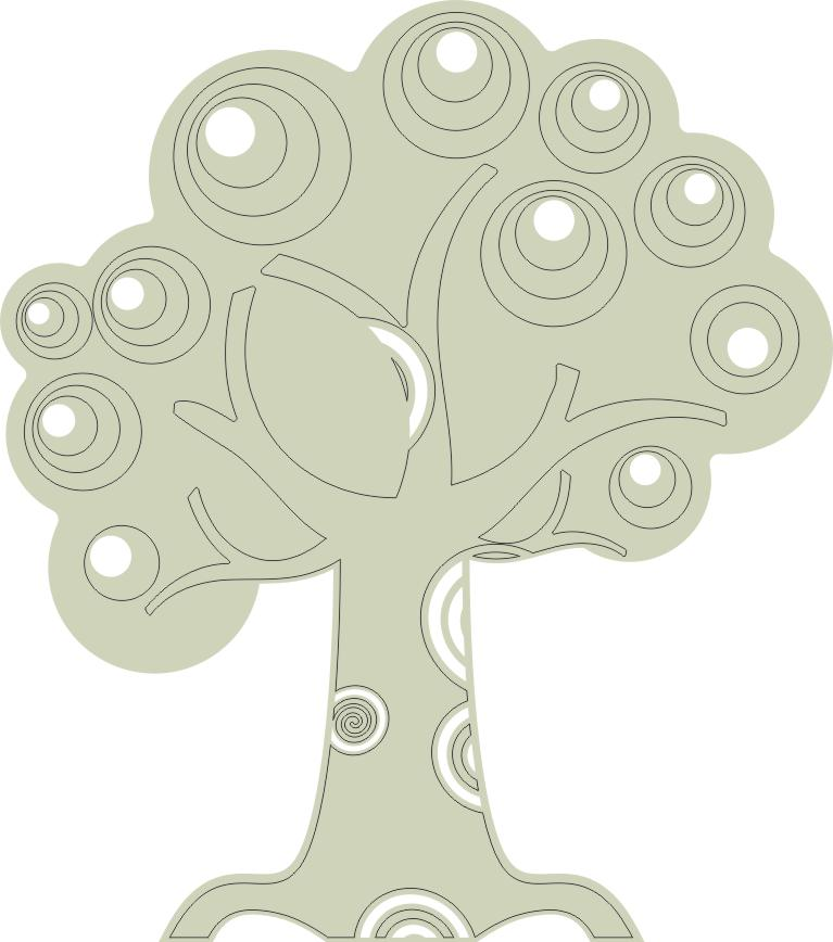 Tree with Swirls (Med) flourish